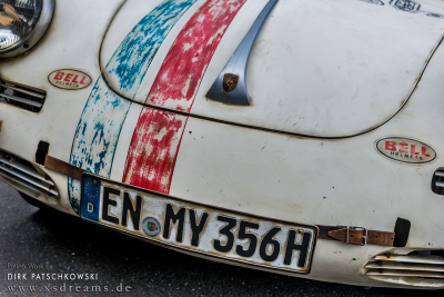 Patina Work Detail auf Porsche 356 © Dirk Patschkowski © Dirk Patschkowski © Dirk Patschkowski / Limited-Legends / Patina / Patinierung/ Oldtimer / Lack / Patina / der Patinator /