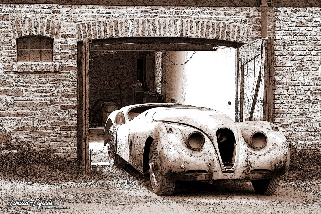Jaguar XK 120 Resto Sepia / Format 120x80cm Limited-Legends.de © Dirk Patschkowski