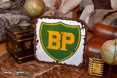 Sehr frühes BP Emailleschild / Doppelseitig / um 1920/30 / Preis und Maße folgen © Dirk Patschkowski / Limited-Legends