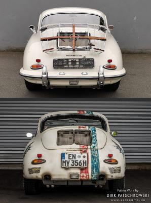 Design und Patinierung eines Porsche 356. Vorher/Nachher © Dirk Patschkowski © Dirk Patschkowski / © Dirk Patschkowski / Limited-Legends / Patina / Patinierung / Oldtimer / Lack / Patina / der Patinator / Lackalterung / Nachpatinieren